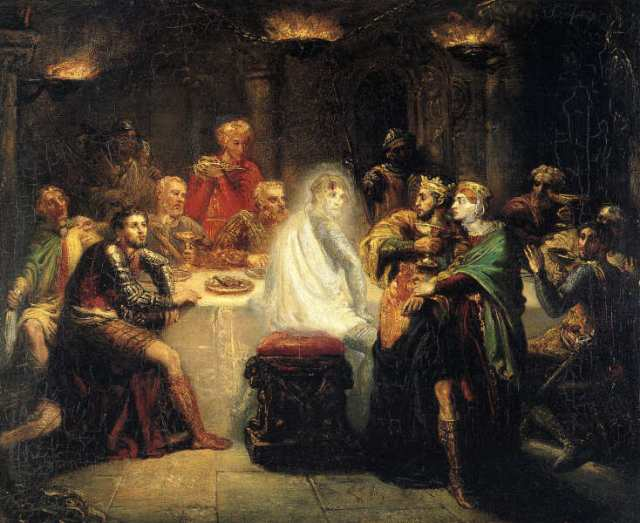 Théodore Chassériau (1819–1856), The Ghost of Banquo 1855