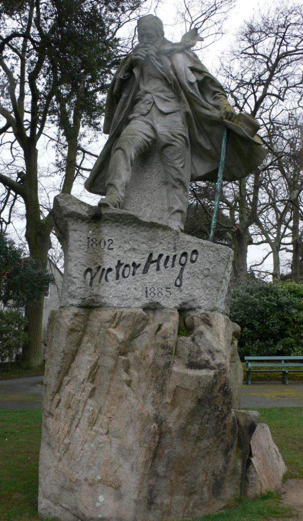 A windblown Victor Hugo in Candie Gardens, Guernsey