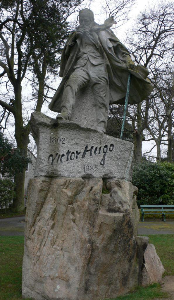 A windblown Victor Hugo in Candie Gardens, Guernsey