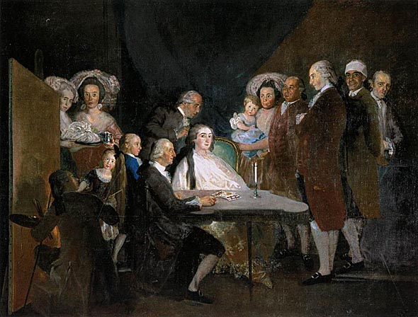 GOYA_Francisco_de_The_Family_of_the_Infante_Don Luis_1783